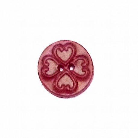 Bouton cuir Rouge fabrication artisanale