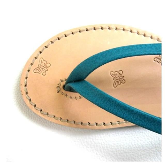 Tongs cuir véritable femme fabrication artisanale Voyageur