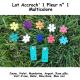 Pack 2 Accroch' 1 Fleur et ses 10 Fleurs n°1
