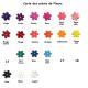 Fleur présentation des coloris pour Accroch'Fleurs