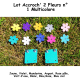 Pack n° 2 composé de 2 Accroch' 2 Fleurs + 10 Fleurs Multicolore