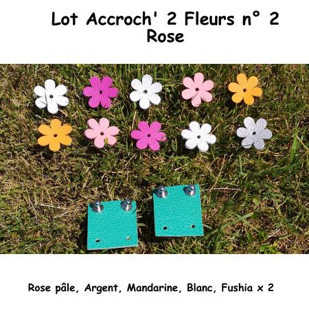 Pack n° 1 Rose composé de 2 Accroch' 2 Fleurs + 10 Fleurs