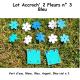 Pack n°3 Bleu composé de 2 Accroch' 2 Fleurs et 10 Fleurs
