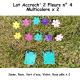 Pack n°4 Multicolore double composé de 2 Accroch' 2 Fleurs + 10 Fleurs