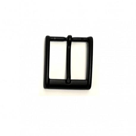 Boucle 3.5 cm n°30 noir mat classique carré