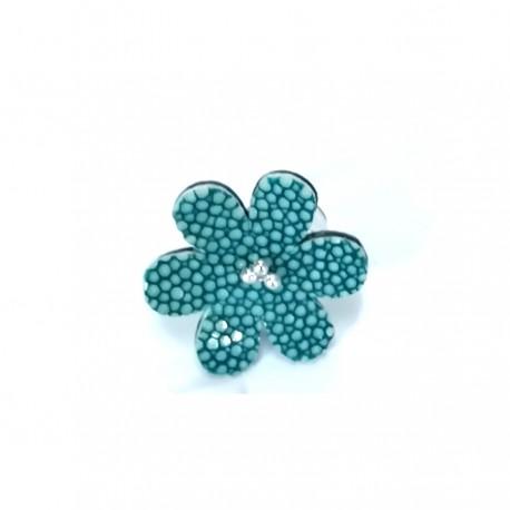 Bague Fleur de Galuchat Turquoise femme